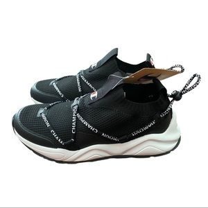 NEW Champion Rally Flux Lo Sneakers, Black/White